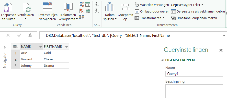 How to connect to IBM DB2 from Power Query | BI-Platform